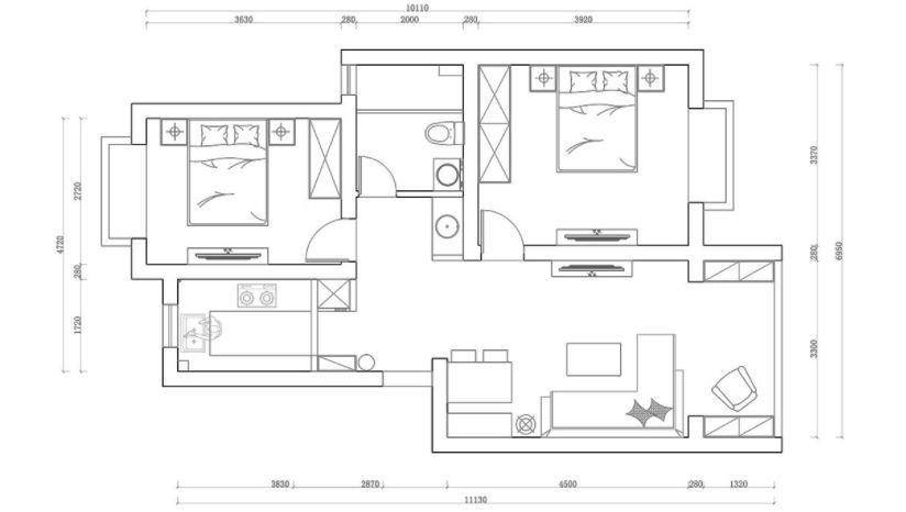 78㎡美式新房装修,精致的软装烘托氛围!