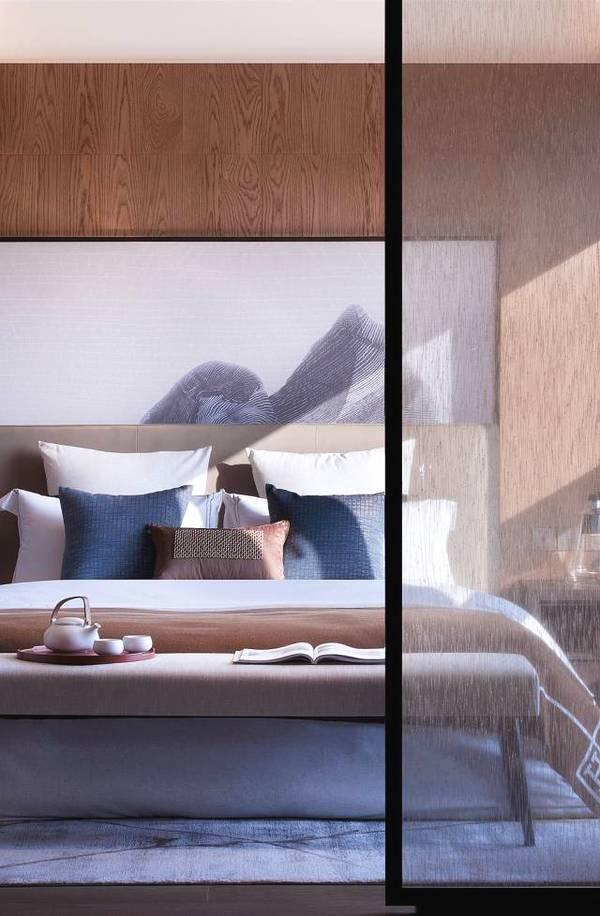 卧室中式设计推拉门