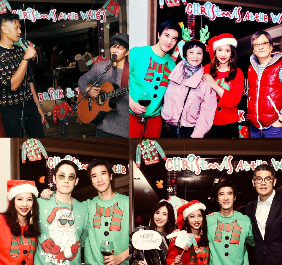 王力宏老婆李靚蕾辦聖誕聚會,眾星雲集氣氛歡樂,這面子真夠大!