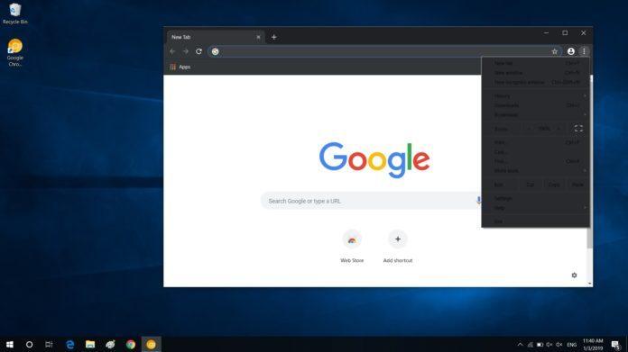 如何在Win10上尝鲜启用Chrome的黑暗模式的照片 - 1