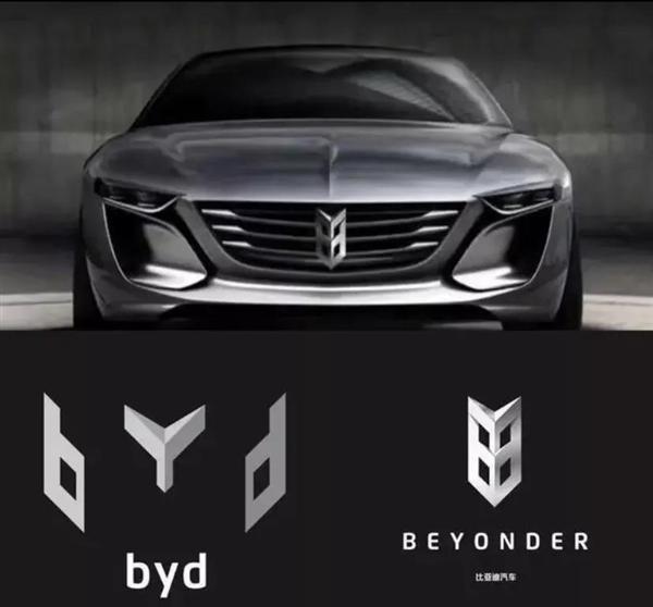 网传比亚迪新LOGO走红:BYD字母重新组合的照片 - 2