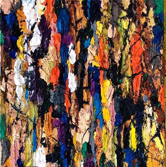 色彩作曲家 徐适一用挤、刮、砌演绎抒情的乐章
