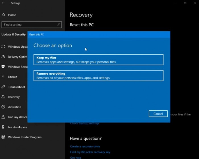 Win10 Build 18312发布:引入预留存储设置 改善重置PC页面的照片 - 3