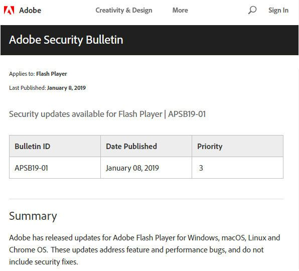 Adobe发布面向Win10的Flash Player KB4480979更新的照片 - 2