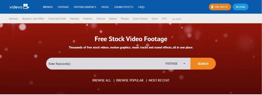 videvo 免费高清视频资源