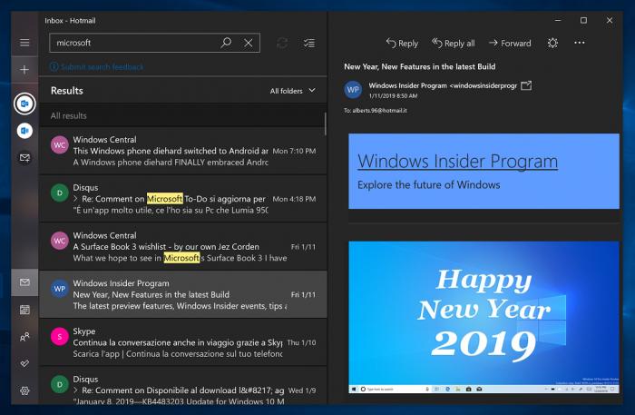 Windows 10邮件和日历应用增强版黑暗主题初体验的照片 - 2