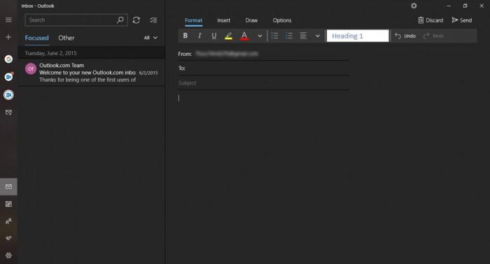 Windows 10邮件和日历应用增强版黑暗主题初体验