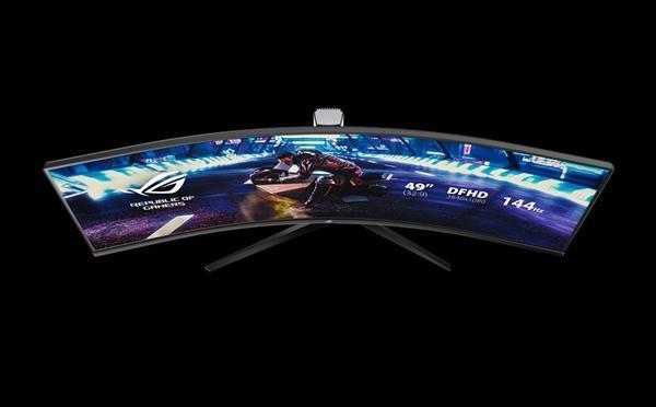 华硕发布49寸带鱼屏显示器XG49VQ:144Hz刷新率的照片 - 6