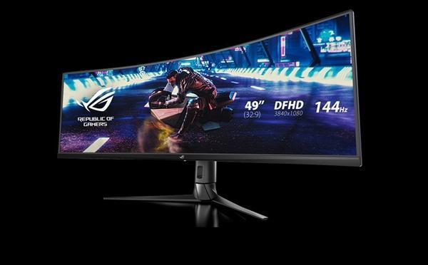 华硕发布49寸带鱼屏显示器XG49VQ:144Hz刷新率的照片 - 4