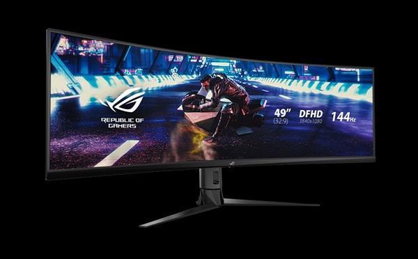 华硕发布49寸带鱼屏显示器XG49VQ:144Hz刷新率的照片 - 3
