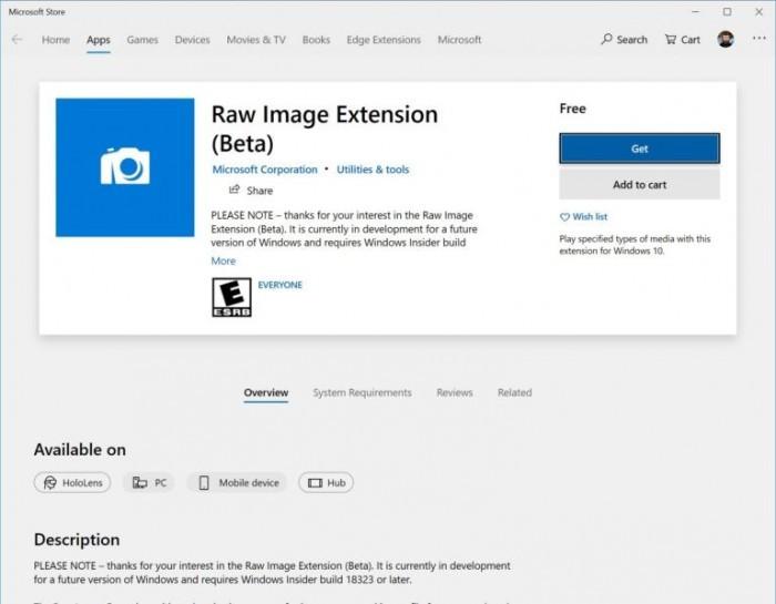 Win10 Build 18323发布:锁定Version 1903 改善RAW格式支持的照片 - 4