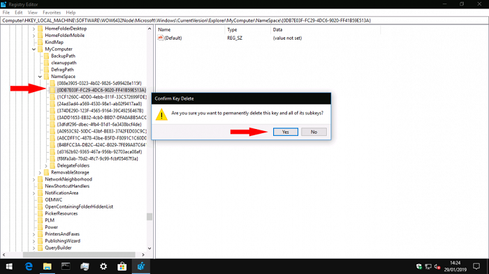 """如何移除Win10资源管理器左侧栏中的""""3D对象""""?的照片 - 4"""