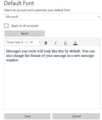 Win10 1903新版邮件暗色模式更全面 可定制消息默认字体的照片 - 3