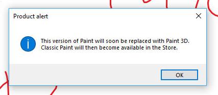 微软可能继续保留Win10中经典绘图软件Paint的照片 - 2