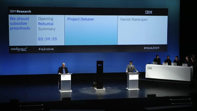 为了要打造一台可以跟真人辩论的AI计算机,IBM的技术挑战是什么?