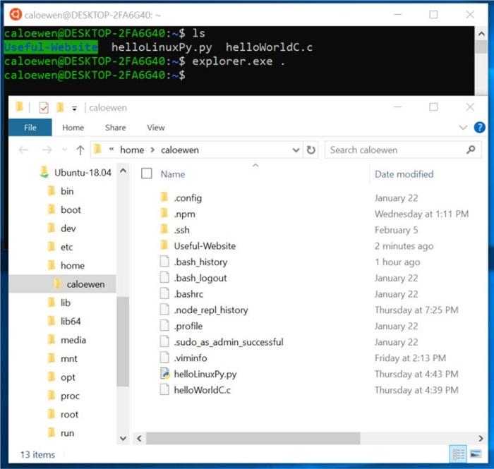 Win10 Linux子系统更新前瞻 可直接访问文件的照片 - 2