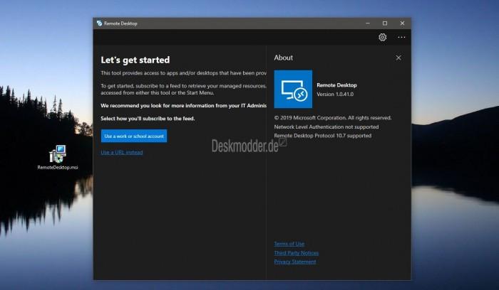 微软新版远程桌面预览应用程序泄露