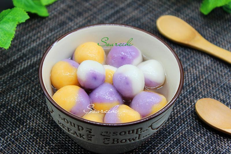 原創這湯圓太不錯吃了!1個湯圓3種顏色3個味道,口感豐富,營養美味!