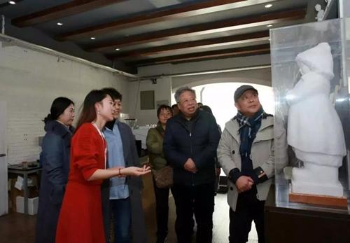 中国艺术经济研究院院长、博士生导师西沐教授来兰考察座谈