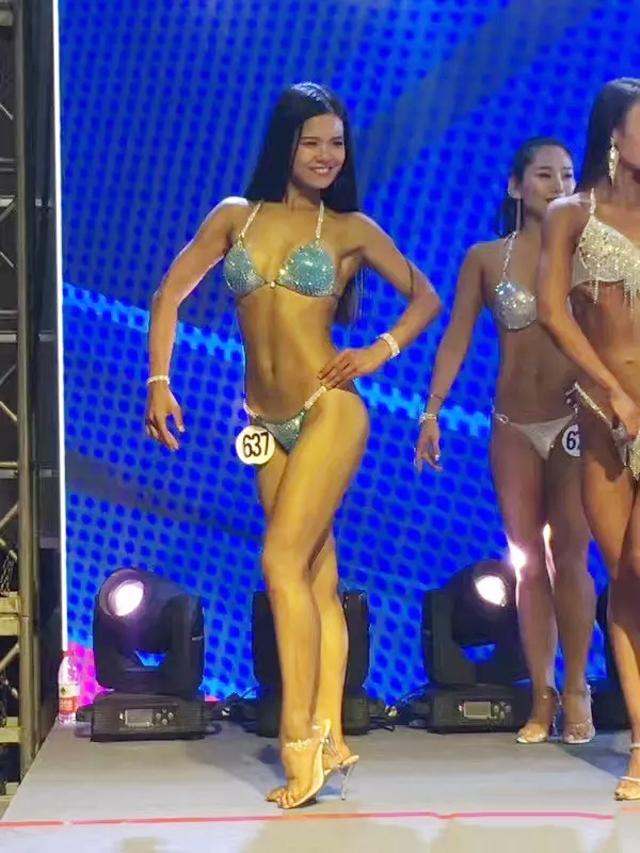 """超越杯""""河北健身健美公开赛女子健身B组第四名"""