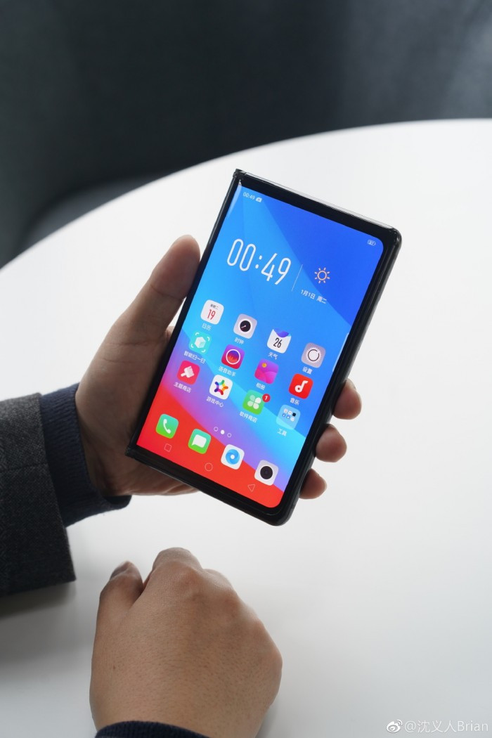 OPPO展示了自己的可折叠手机 但并不一定会发售的照片 - 3