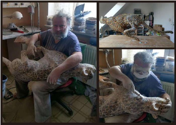 琥珀猎豹创作过程