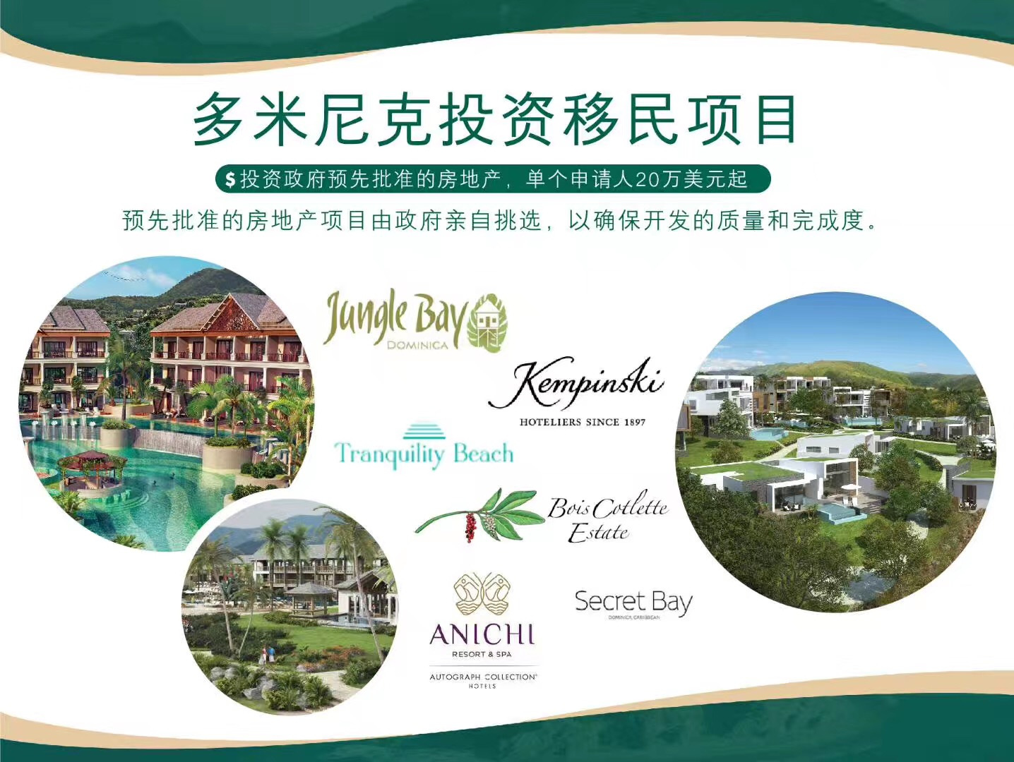 CS Global Partners睿智移民:多米尼克繁荣的酒店业为地产投资者提供良机