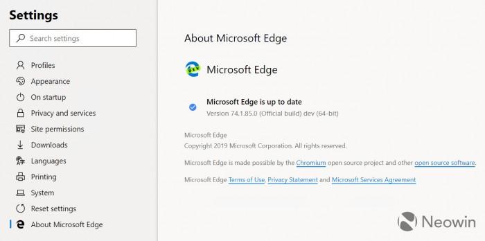 基于Chromium的新版Edge截图曝光:扩展更丰富的照片 - 4