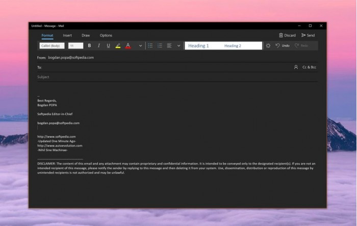 微软面向所有Win10 Mail用户开放Dark主题的照片 - 2