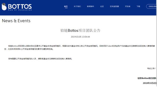 BTO Bottos coin