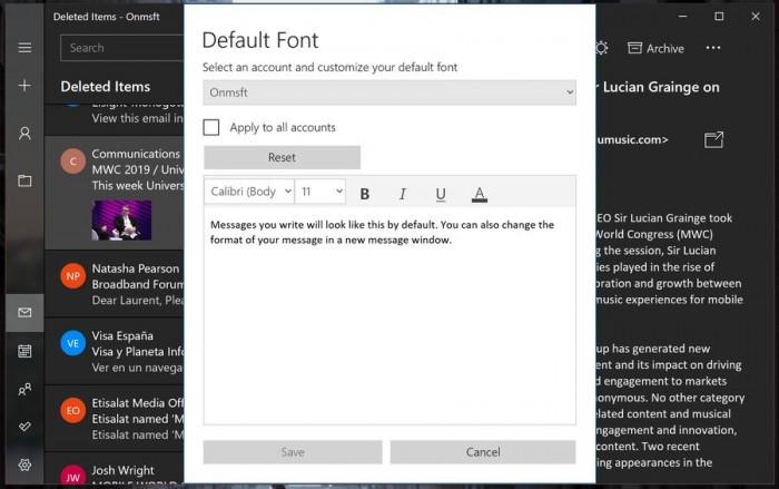 微软面向所有Win10 Mail用户开放Dark主题的照片 - 7