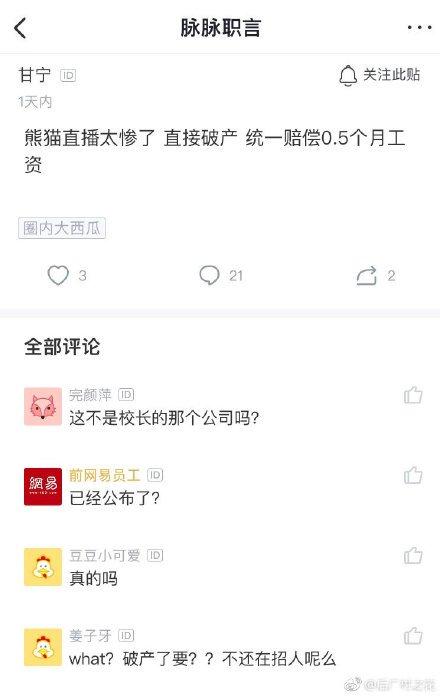 消息称熊猫直播进入破产清算 3月18日关闭服务器的照片 - 4