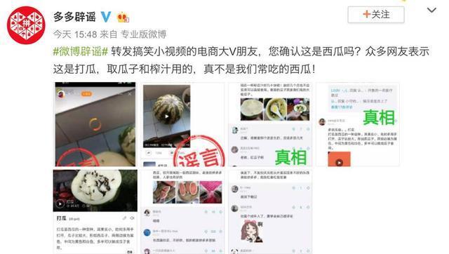 """网友晒拼多多所购""""西瓜"""" 官方辟谣:实为籽瓜的照片 - 3"""