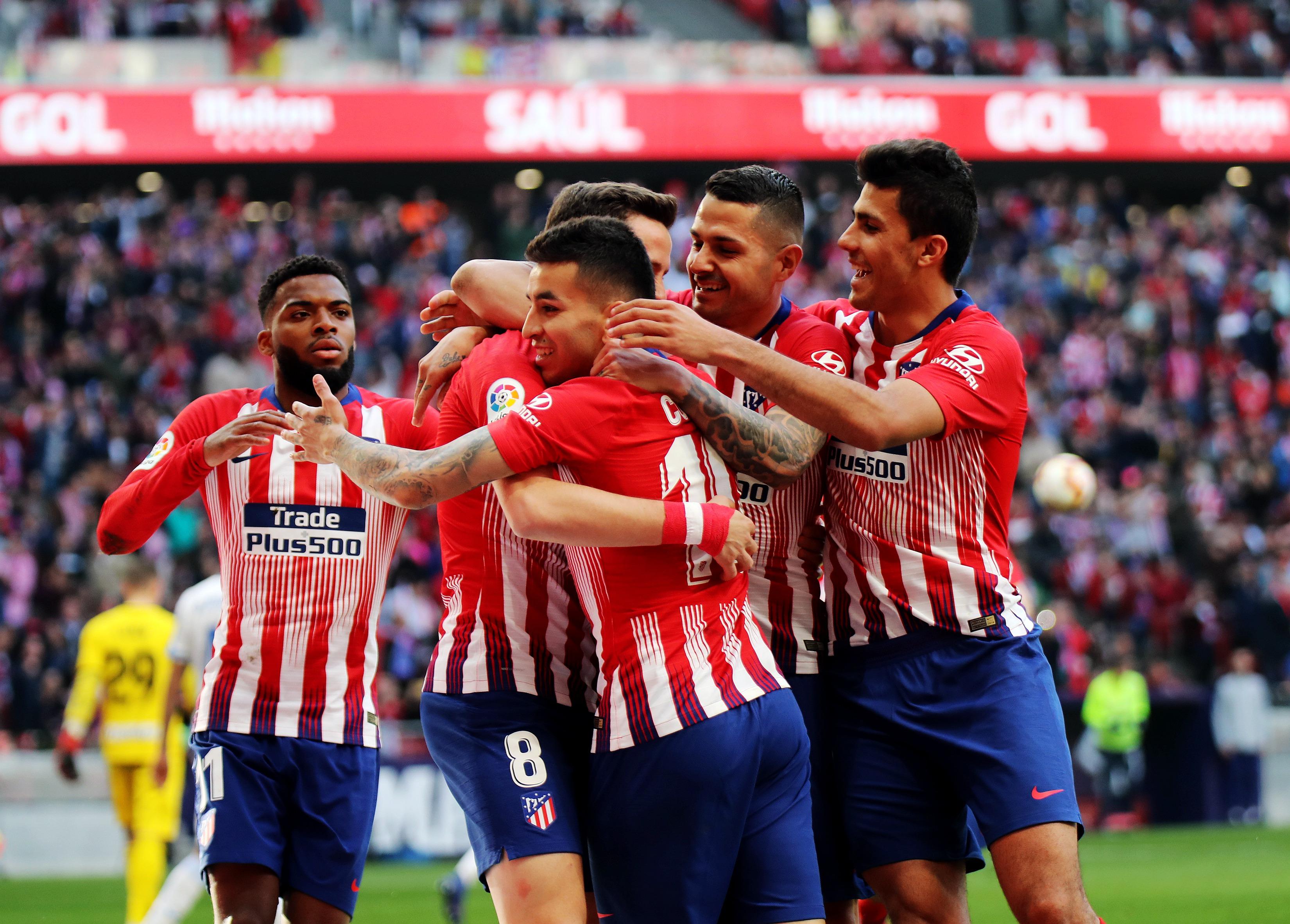 足球——西甲:马德里竞技胜莱加内斯_比赛