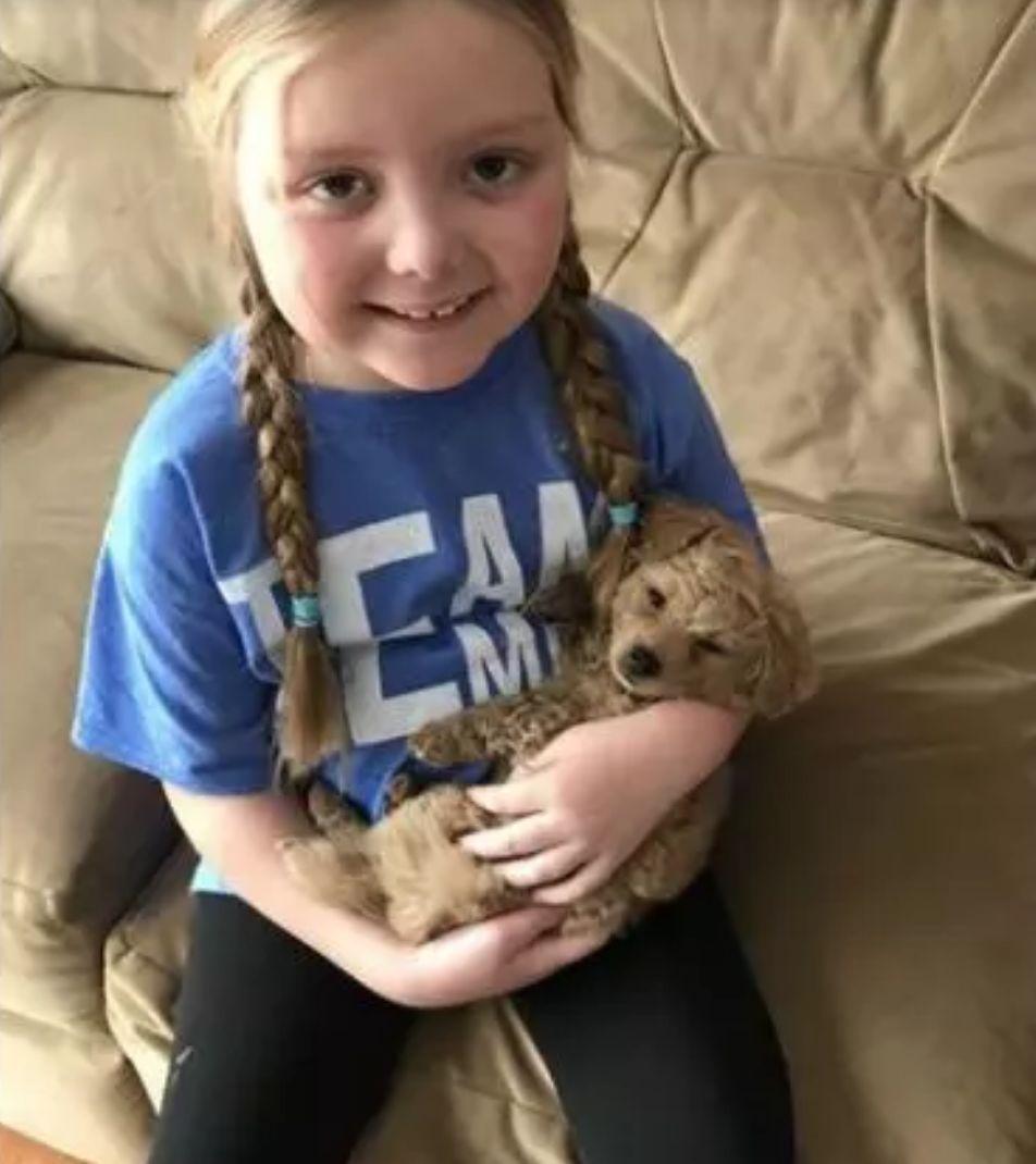 40只警犬悄咪咪的守在门口,只因为这个小女孩说她想看狗