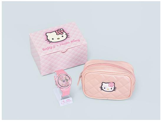 BABY-G × Hello Kitty合作款新系列发布 再现90年代年轻人流行菱格纹设计