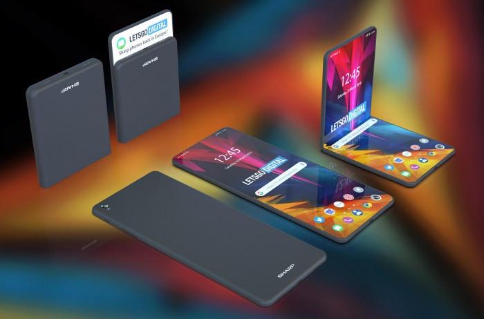 夏普可折叠手机专利曝光:两种折叠形态的照片 - 1