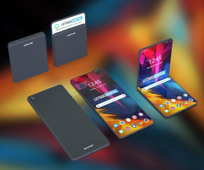 夏普可折叠手机专利曝光:两种折叠形态的照片 - 5