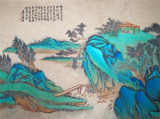 当代著名画家陈龙笔下的山水艺术