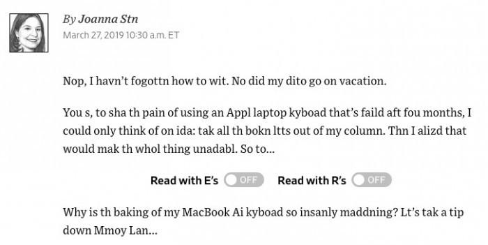 部分用户发现第三代MacBook键盘依然存在问题 苹果致歉的照片 - 3