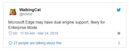 新版Edge浏览器或将拥有两个不同的浏览器内核的照片 - 2