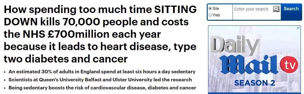 """""""久坐会增加早死风险""""被证实 到底多久算久坐?的照片 - 6"""