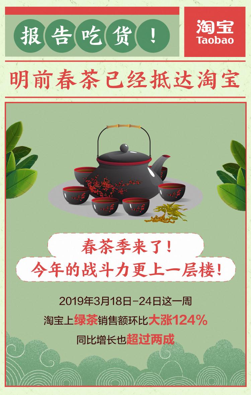"""淘宝春茶季不一般:年轻人成""""茶客""""主力店家用直播卖出500"""