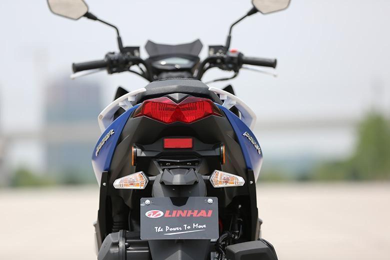 外观看车踏板车摩托车:林海领程175