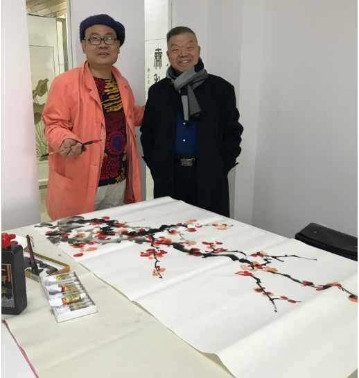 北京市丰台区和义社区与企业携手举办和谐和义书画作品展
