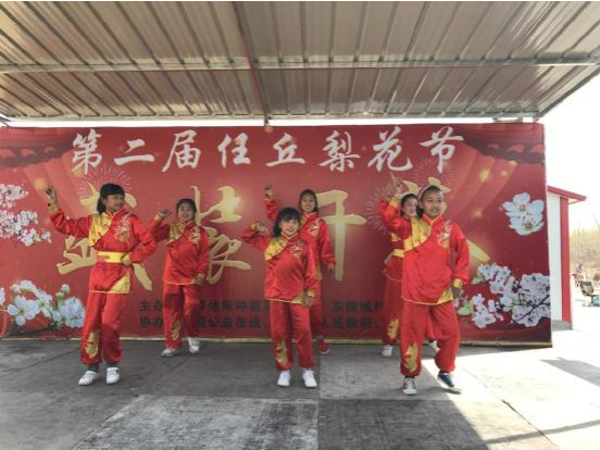 马召少年大鼓队任丘梨花节公益演出