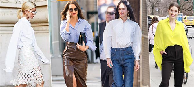 明媚春日里,基础衬衫的几十种穿法确定你都会吗?