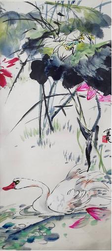 德意方画廊藏郭笃民花鸟作品在京展出