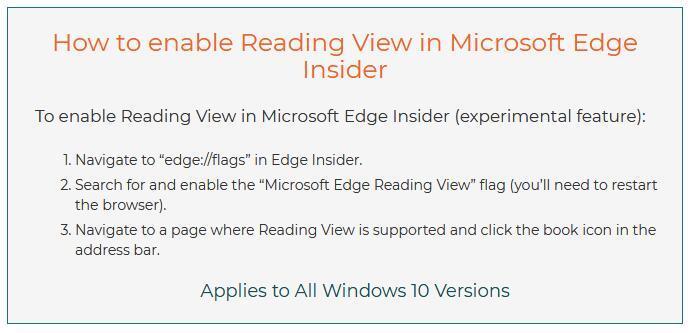 如何在新版Edge中启用阅读视图模式的照片 - 2