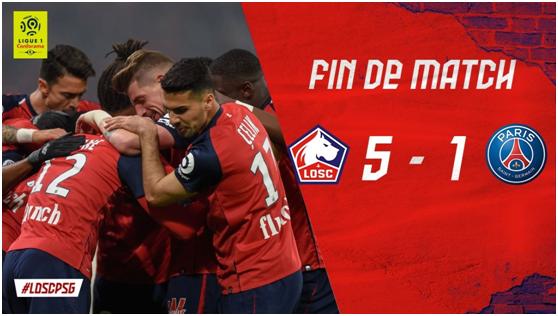 5-1横扫巴黎!去年保级队如今稳居法甲第二 里尔强势冲击欧冠席位